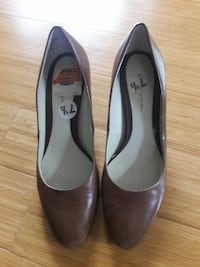 Brown Leather Pumps Bowie, 20716