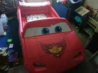 toddler's red car bed frame from the movie cars. Oklahoma City, 73127