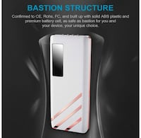 12500mah Power Bank Portable Charger for iPhoneX 8 and More (White)
