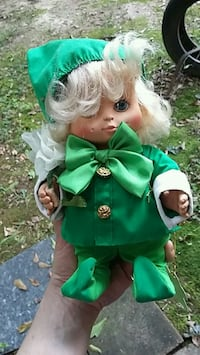 green and white dressed girl doll Bogart, 30622
