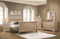 Queen Champagne Sleigh 6pc Bedroom Collection Charlotte, 28216