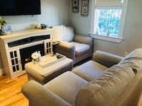 Brown and white living room set 408 mi