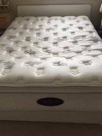 Queen size complete bed. Beauty rest, this bed provide greater durability then traditional wrapped coils while delivering pressure relief, motion separation for undisturbed sleep, and back support. the box spring included. We payed 3.800. Now only 320 goo Edmonton, T5T 3X7