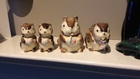 three white-and-brown ceramic cat figurines Oakville, L6M 3R9
