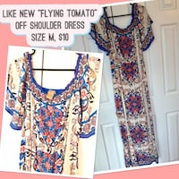 """Wore once """"Flying tomato"""" off shoulder dress Chantilly, 20152"""