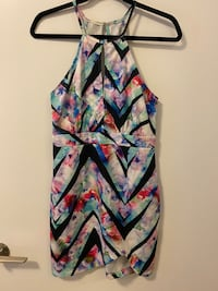 Multicoloured keyhole party dress - size 4/Small Burnaby, V3J 1J7