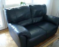 Navy Leather LoveSeat  Chicago