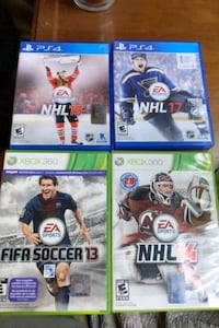Xbox 360 games and PS4 games