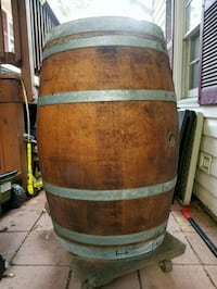 Barrel- empty oak whiskey barrel  Manassas