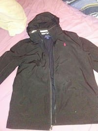 black Ralph Lauren zip-up hoodie