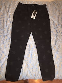 black and white floral pants Union, 41091