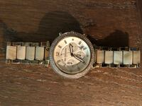 Round silver-colored chronograph watch with link bracelet Pinebluff, 28373