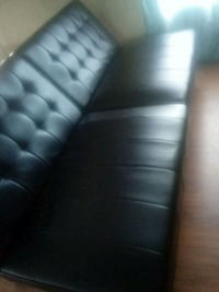 black leather 3-seat sofa Laredo, 78043