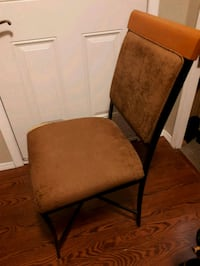 two brown wooden framed brown padded chairs Surrey, V3W 6E1