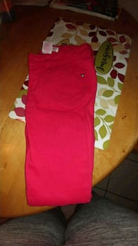 red and white Adidas track pants 899 mi