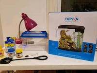 3.5G Fish tank with accessories and travel container Boston, 02134