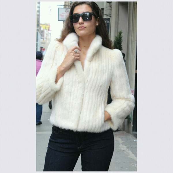 c40866d024ad Used Used Off White Mink Fur Jacket for sale in New York - letgo
