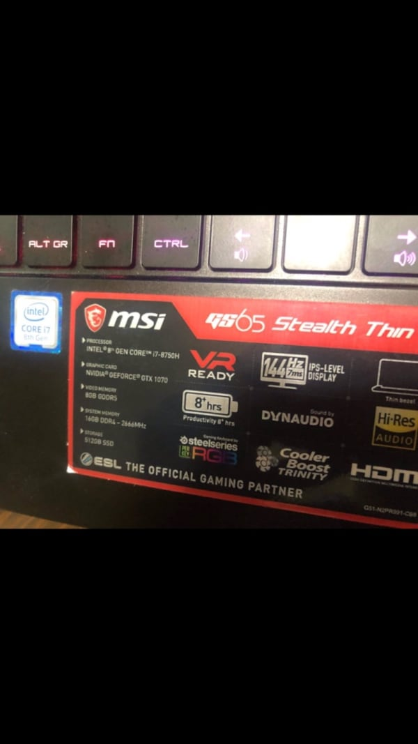 MSI GS-65 Gaming Laptop b01afde2-6d75-43a6-bbe2-aacdd95cd8ab