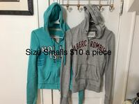 two blue and heather-gray zip-up hoodies Beckley, 25801