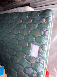 quilted green floral mattress