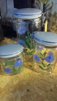 Counter top glass canisters  Denham Springs, 70726