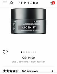 ALGENIST POWER Recharging Night Pressed Serum. New without box Mississauga, L5E 2E9