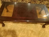 rectangular brown wooden coffee table Lindale