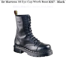 Dr. Martens 10 eye cap work boot 8267
