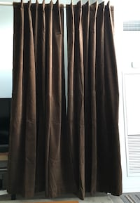 Chocolate brown blackout curtains Toronto, M9W