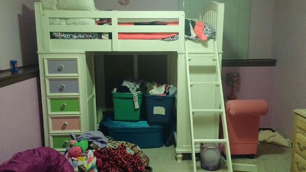 Build A Bear Loft Bed W Desk And Drawers