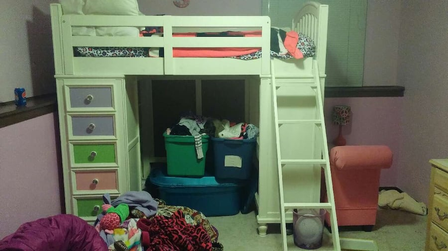Used Build A Bear Loft Bed W Desk And