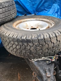 Two truck tires on rims . 90% both  Edmonton, T6K 1L8