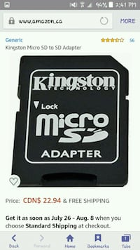 Brand New Sealed Micro SD Adapter  Surrey, V3R 1T4