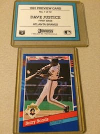 Baseball cards - 2 1991 Donruss dealer promo cards  Mooresville, 28115