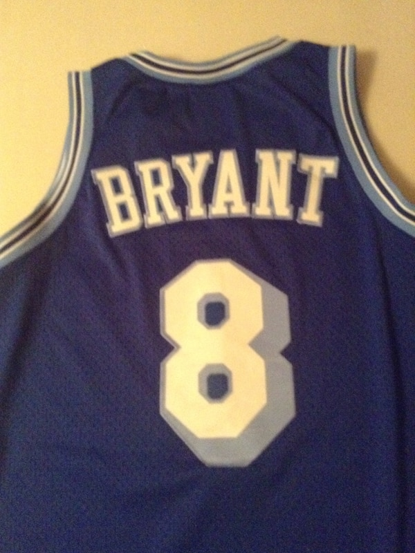 new product 0266d d51a9 Blue and white bryant 8 basketball jersey