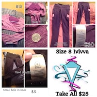 DEAL OF THE DAY-Ivivva Size 8 Clothes Edmonton, T5T 3E9