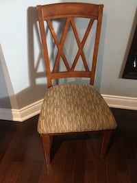 Brown wooden upholstered chair