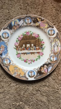 Vintage The Last Supper plate