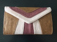 white and pink leather wristlet Surrey, V4N 5Y6