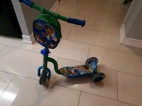 toddler's green and blue kick scooter Toronto, M9V 5G8