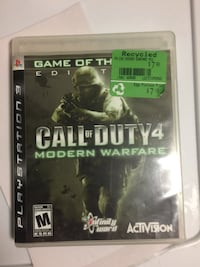 Call of Duty 4 Modern Warfare Xbox 360 game case Whitby, L1N 1Z8