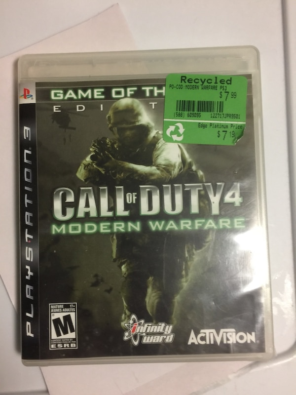 Call of Duty 4 Modern Warfare Xbox 360 game case