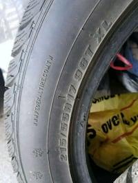 Studded snow tires 215/55/R17 Spokane Valley, 99206