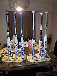 six white-and-blue baseball bats Rio Grande City, 78582