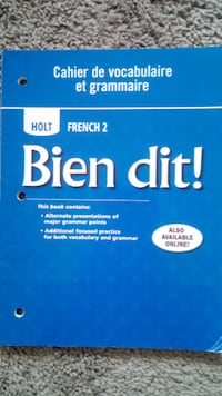 High School French Work Book 2: Bien Dit! for FREE