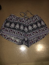 black and white floral shorts 705 km