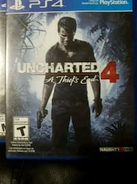 Uncharted 4 PS4 game case Kelowna, V1Y 3W1