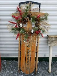 Old sled  decorated Hagerstown, 21740