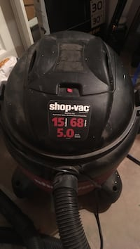 Black and red Shop-Vac wet and dry vacuum cleaner works perfect Moncton, E1G 2E4