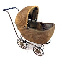 Antique Gendron Baby Carriage Wicker Stroller Buggy Early 20th Century 1900-1910 St. Catharines